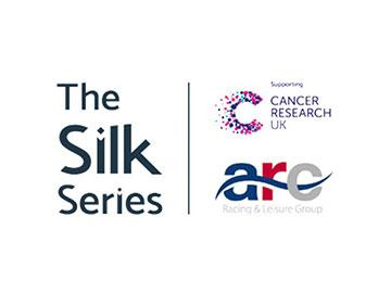 Banner showing the Silk Series, Arena Racing Company and Cancer Research UK logos.